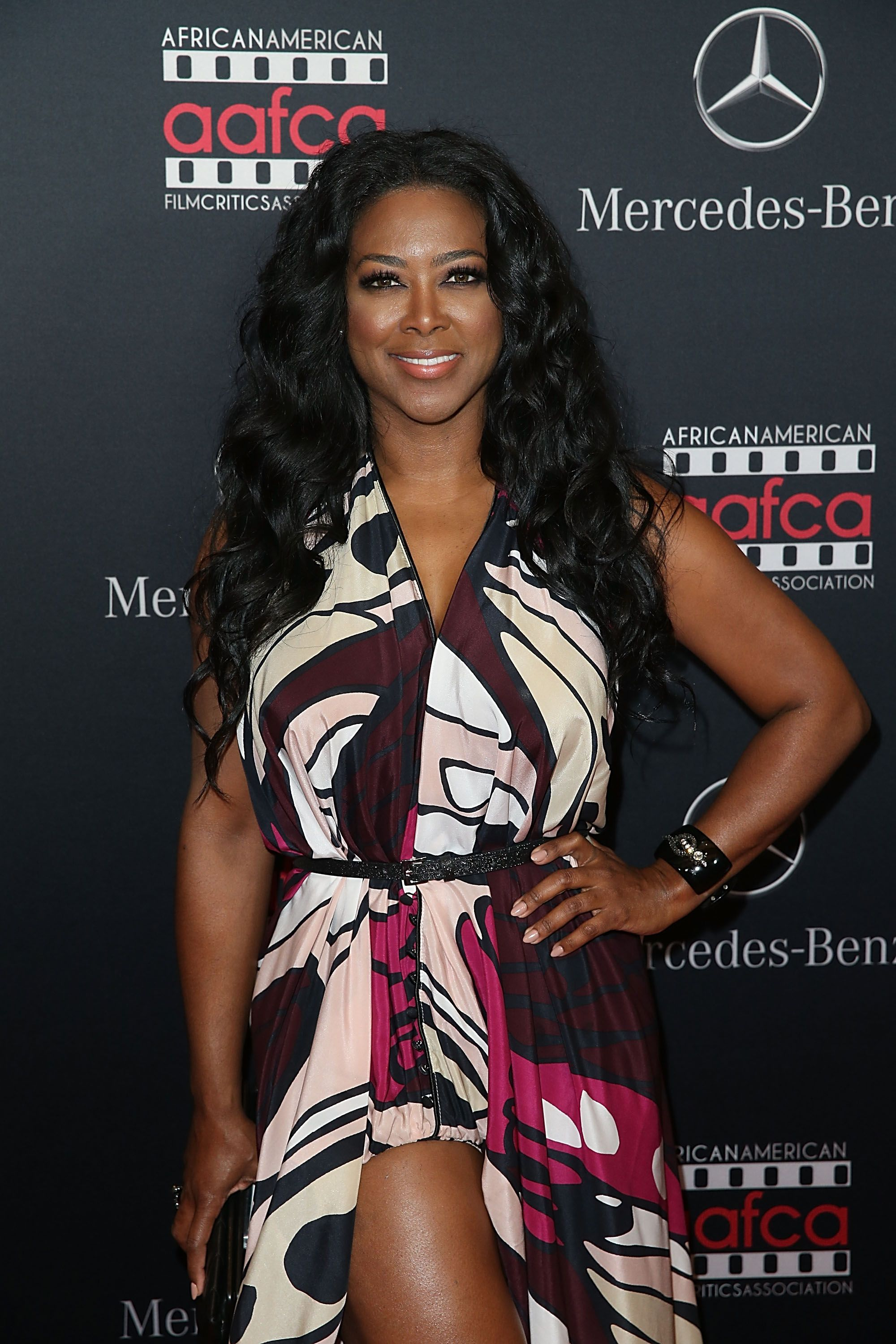 Kenya Moore during the Mercedes-Benz and African American Film Critics Association Oscars viewing party at Four Seasons Hotel Beverly Hills on February 28, 2016 in Los Angeles, California. | Source: Getty Images