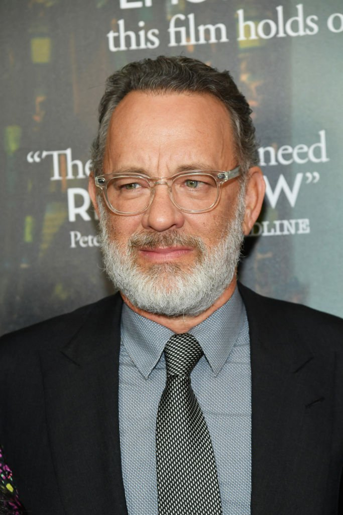 "Tom Hanks attends ""A Beautiful Day In The Neighborhood"" New York Screening at Henry R. Luce Auditorium at Brookfield Place 