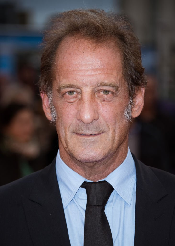 "L'acteur Vincent Lindon pose sur le tapis rouge avant la projection du film ""The Zookeepr's Wife"" lors du 43e Festival du Film Américain de Deauville le 7 septembre 2017. 