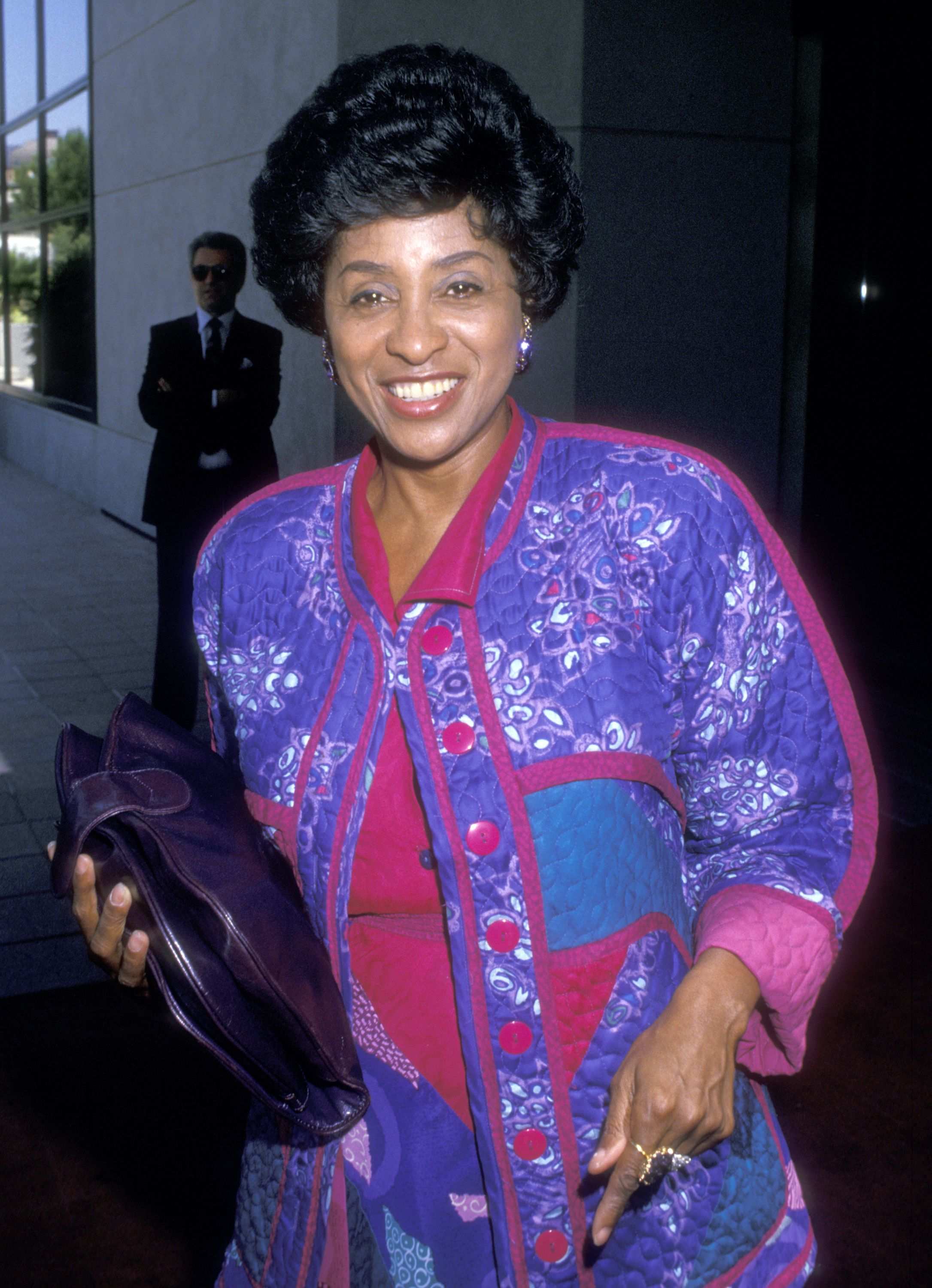 Actress Marla Gibbs at the NBC Television Affiliates Party on August 7, 1988 at The Registry Hotel in Universal City, California.   Photo: Getty Images