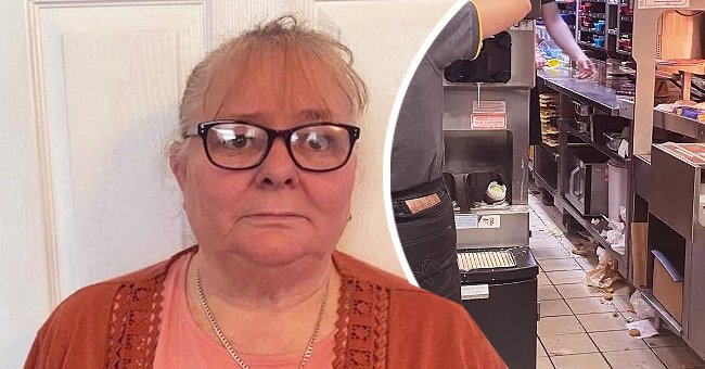 The 61-year-old Ceri Pepper shared pictures of McDonald's filthy kitchen on social media. | Photo: twitter.com/TheSun | twitter.com/DailyMirror