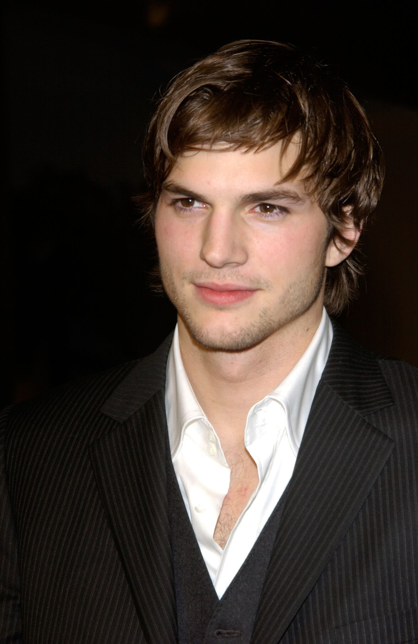 "Actor Ashton Kutcher at the Los Angeles premiere of his new movie ""Just Married."" 