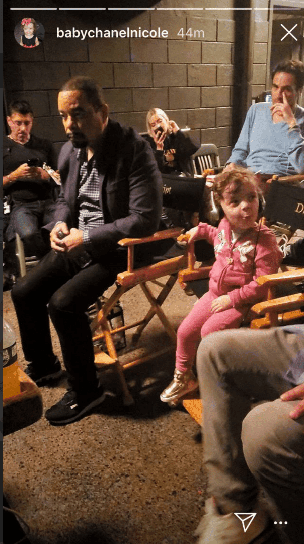 "Ice-T's daughter Chanel Nicole on the set of ""Law & Order: SVU"" 