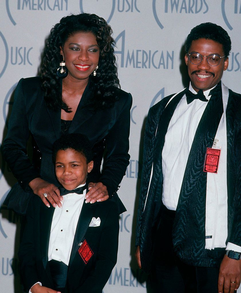 Natalie Cole, Robert Yancy and Herbie Hancock on January 25, 1988 at Shrine Auditorium in Los Angeles, California.   Photo: Getty Images