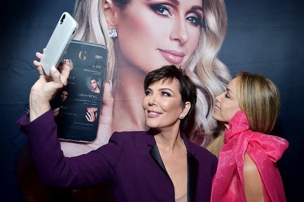 Kris Jenner and Faye Resnick attend Paris Hilton + The Glam App Partnership Event on June 19, 2019 in Hollywood, California | Photo: Getty Images