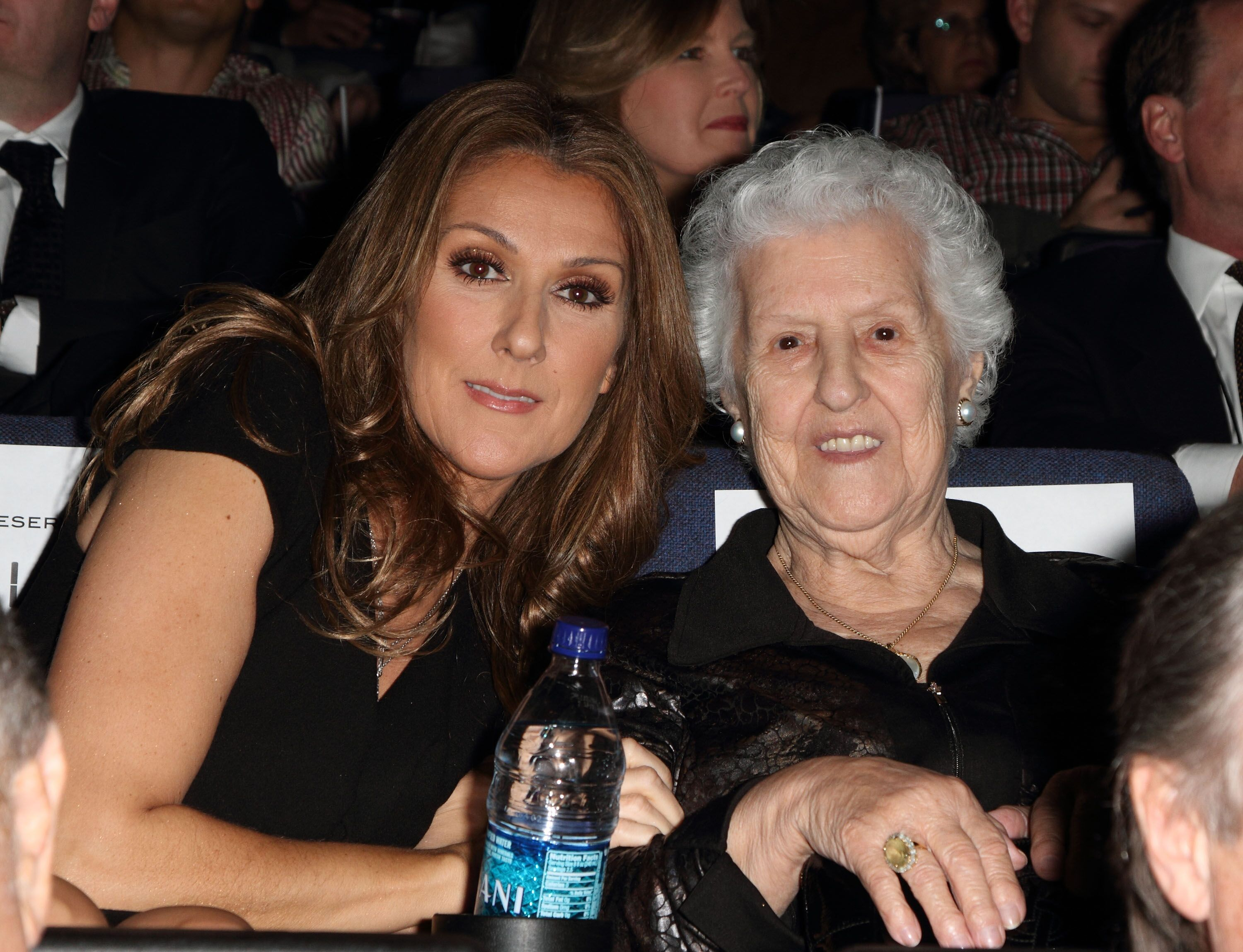 "Celine Dion and Therese Tanguay Dion at the premiere of ""Celine: Through The Eyes of The World"" on February 16, 2010, in Miami Beach, Florida 