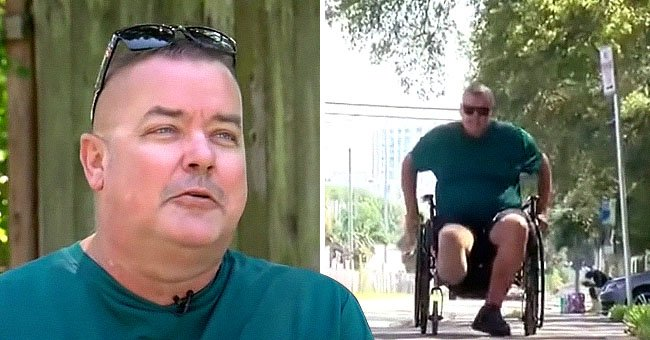 Man's wheelchair is falling apart but he has a difficult time reaching the company that said they would send him a new one | Photo: Youtube/wfla