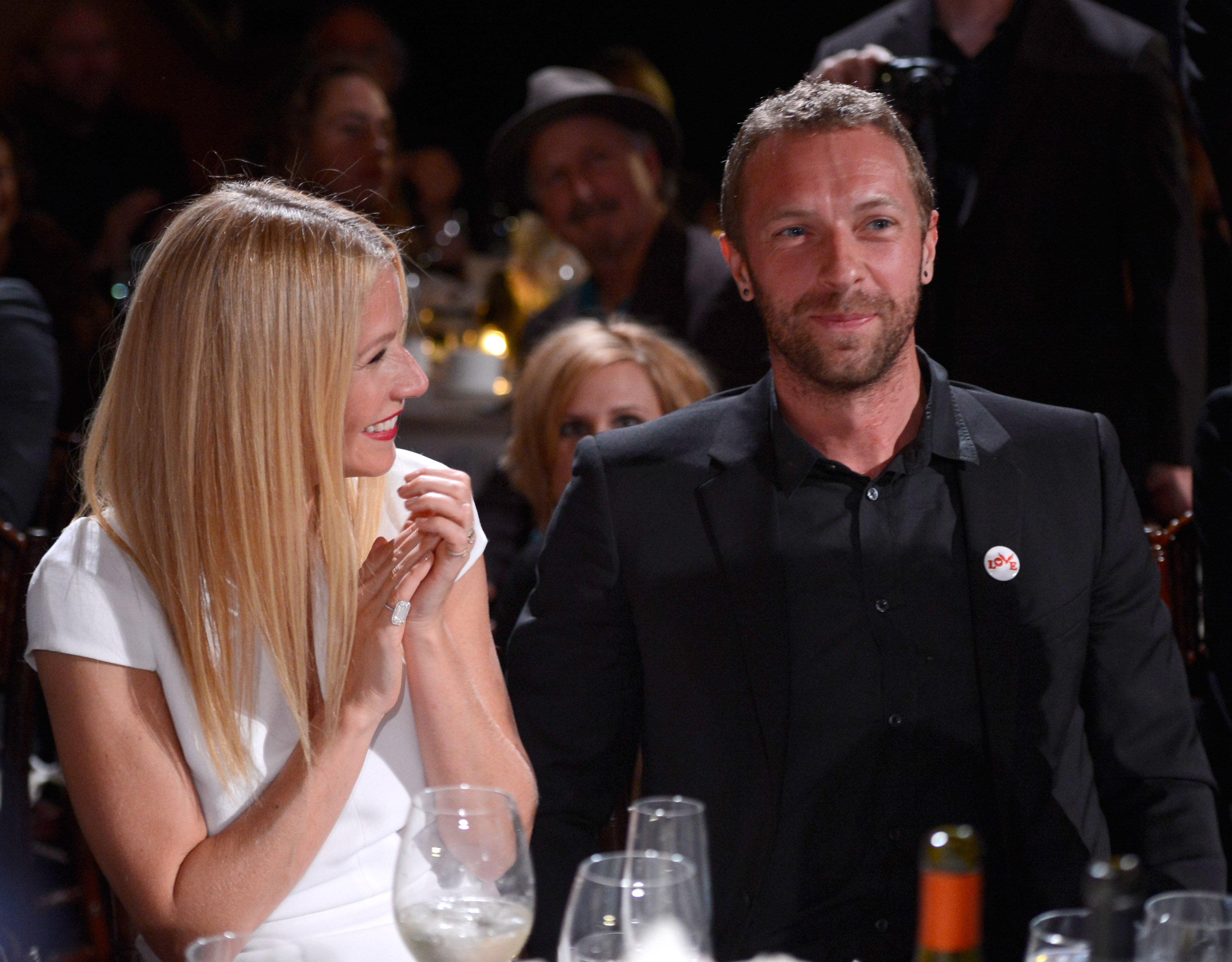 """Gwyneth Paltrow and Chris Martin attend the 3rd annual Sean Penn & Friends """"HELP HAITI HOM"""" Gala on January 11, 2014 in Beverly Hills. 