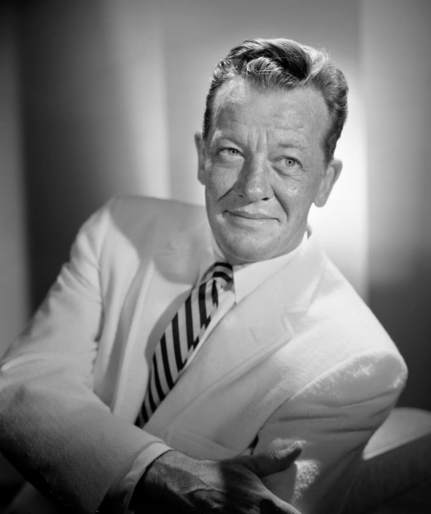"""Portrait of actor William Talman who performs as D.A. Hamilton Burger in the CBS television legal drama, """"Perry Mason"""" on August 19, 1957. 