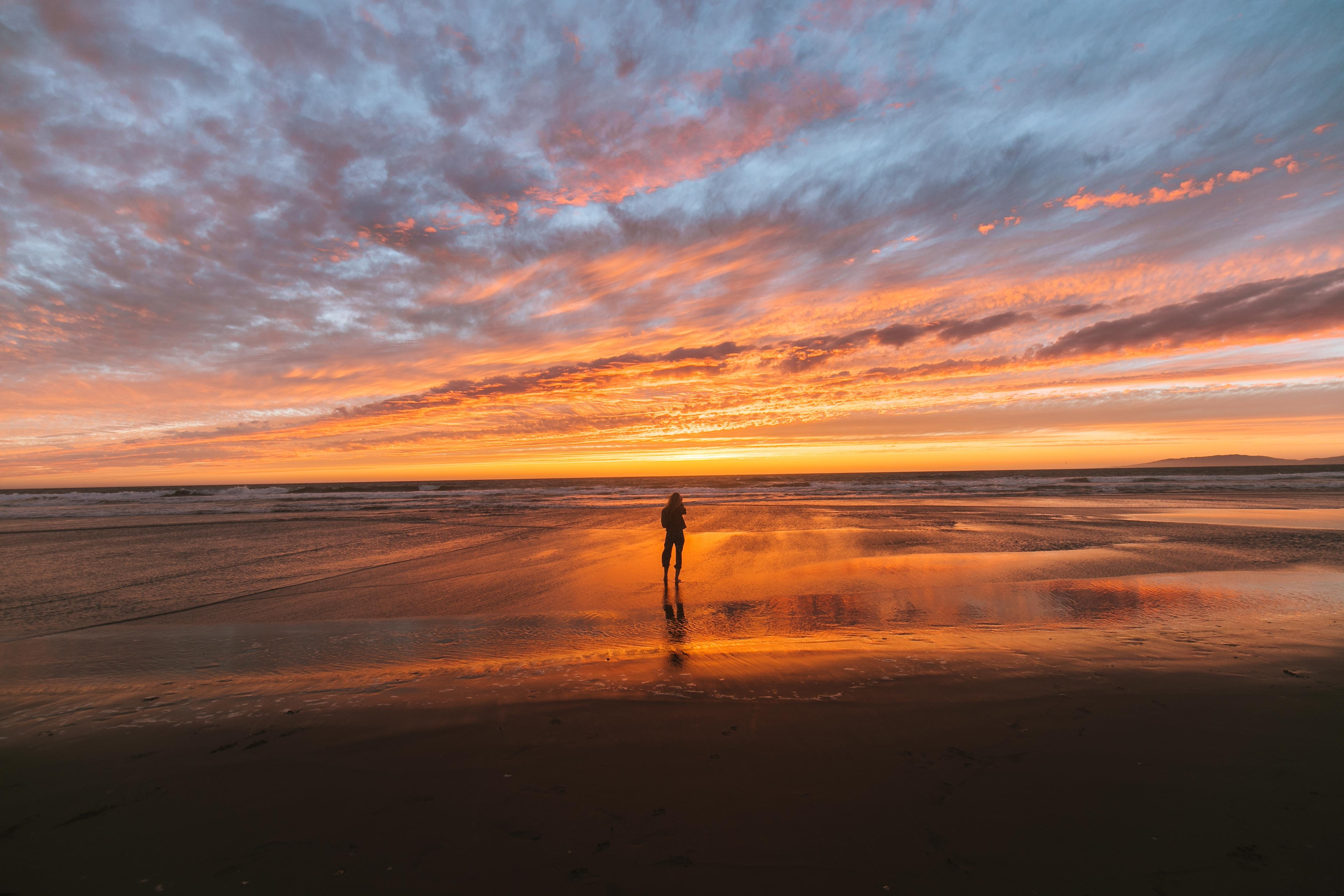 Linda found herself on the beach as the sun rose   Source: Pexels