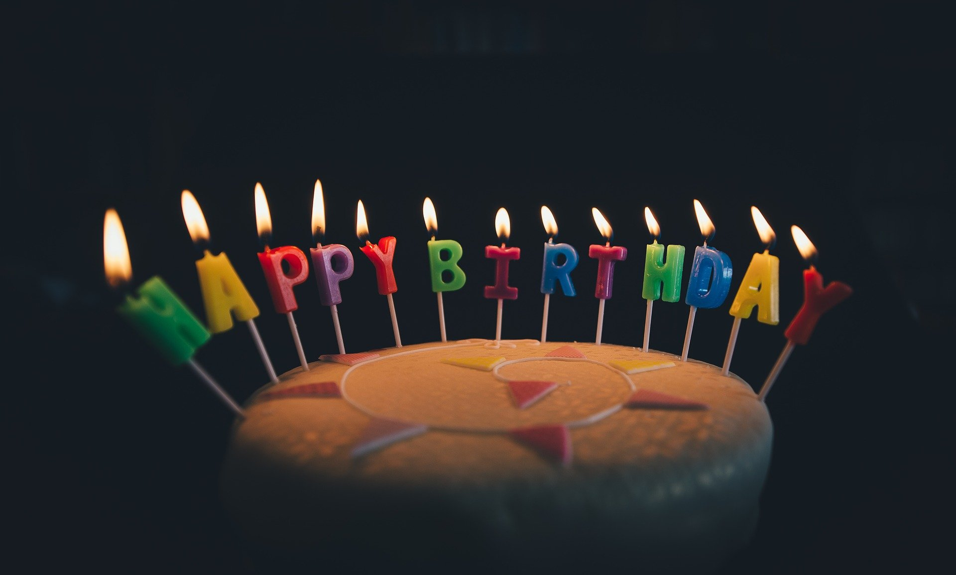Pictured - A birthday cake with candles   Source: Pixabay