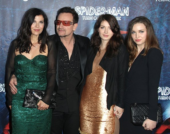 Ali Hewson, Bono of U2, Eve Hewson and Jordan Hewson at the Foxwoods Theatre in New York City on June 14, 2011. | Photo: Getty Images