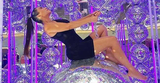 KUWTK's Kourtney Kardashian Channels Miley Cyrus as She Poses on a Disco Ball