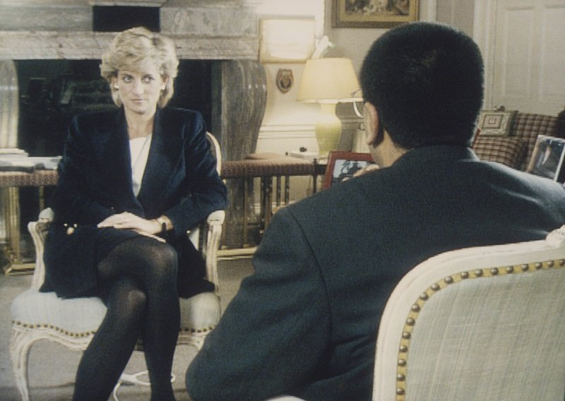 Princess Diana during her famous interview with the BBC in Kensington Palace on November 20, 1995   Photo: Getty Images