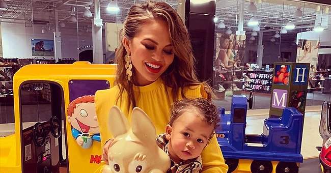 Chrissy Teigen Plays Pop the Pig Game with Daughter Luna as They Stay Home Due to COVID-19