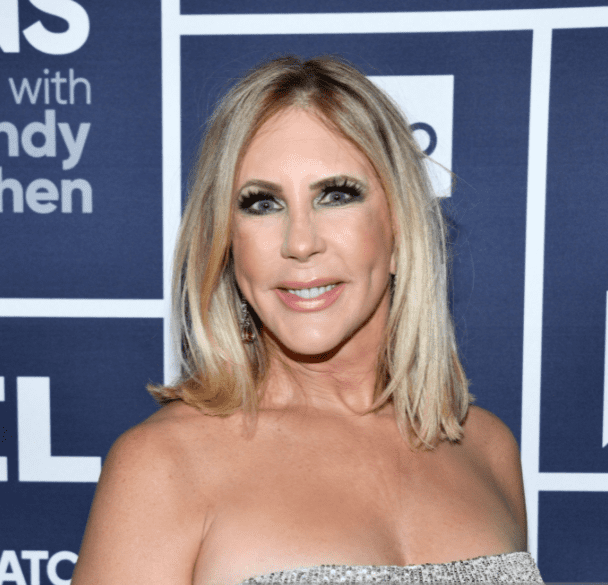 """Reality star Vicki Gunvalson during a visit at """"Watch What Happens Live!"""" Season 16 