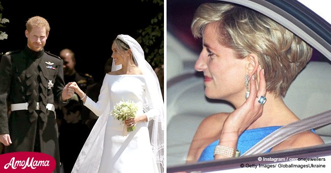 Meghan Markle wears a beautiful piece of Princess Diana's jewelry on her wedding day
