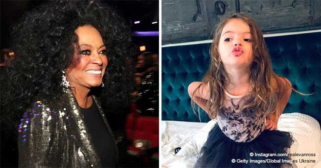 Diana Ross' granddaughter, 3, captures hearts posing in a black tutu in new photo