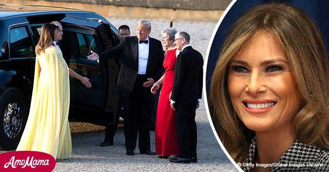 Melania looks like a real-life Disney princess dazzling London in a yellow gown