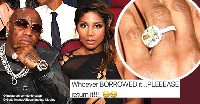 Toni Braxton reveals her gigantic engagement ring from Birdman was 'borrowed' from her luggage