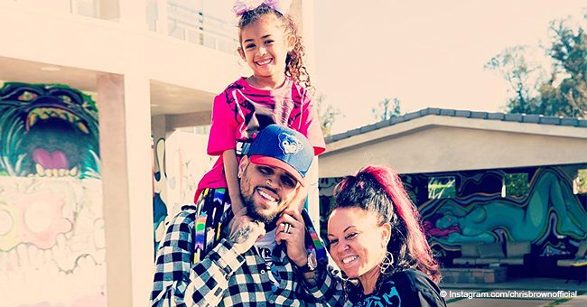 Chris Brown shares photo of his mom and daughter before posting response video to rape allegation