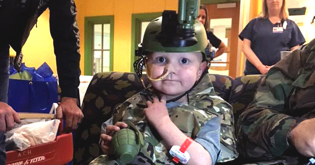 Military Members and Veterans in Full Uniform Honored Late Boy Who Wanted to Be an 'Army Man'