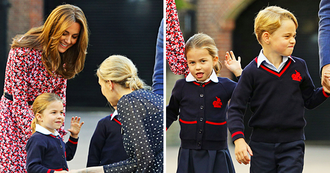 Kate Middleton Cheers up Princess Charlotte Telling Her Prince George 'Would Lead the Way' on Her First Day of School
