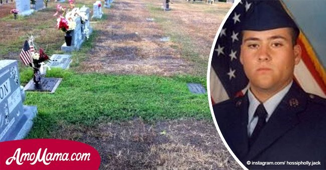 Soldier's grave became greener everyday. Grieving mother could not understand why