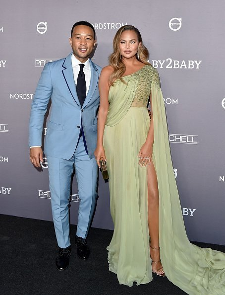 John Legend and Chrissy Teigen attend the 2019 Baby2Baby Gala Presented By Paul Mitchell at 3LABS in Culver City, California | Photo: Getty Images