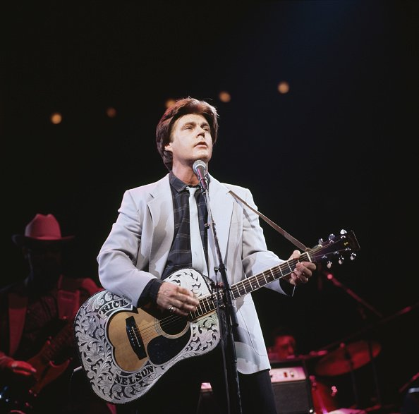 Ricky Nelson at a live concert at the Royal Albert Hall, in London, England in November 1985 | Photo:Getty Images