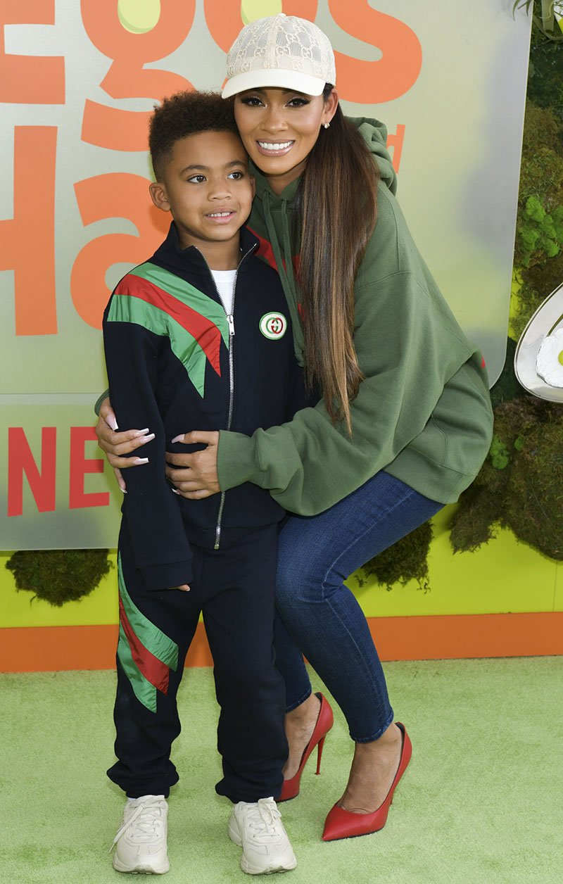 "Evelyn Lozada and Carl Leo Crawford attend the premiere of Netflix's ""Green Eggs And Ham"" at Hollywood American Legion on November 03, 2019 in Los Angeles, California. I Image: Getty Images."