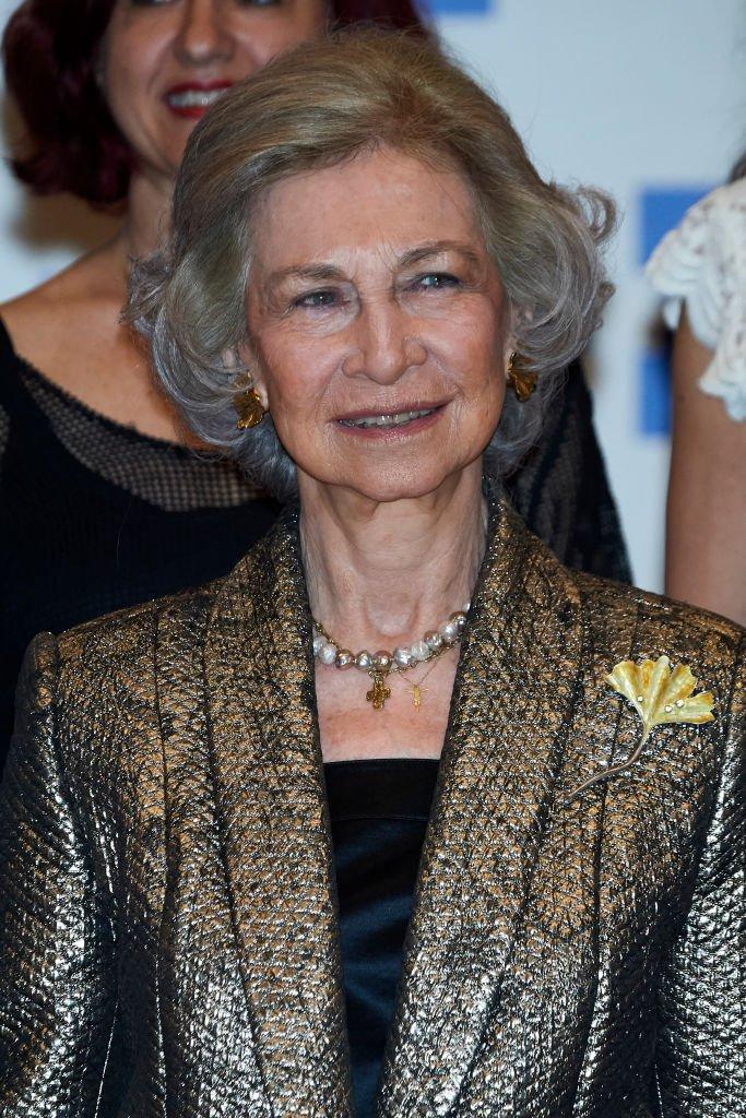La Reina Sofía en concierto ofrecido por la agencia EFE y la Fundación Excelentia el 28 de marzo de 2019 en Madrid, España.   Imagen: Getty Images