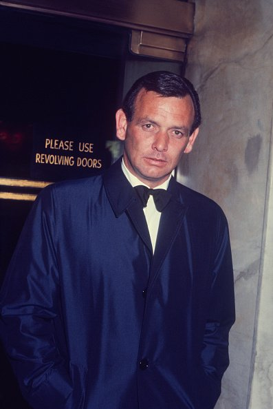 David Janssen in tux and overcoat in New York, circa 1960.   Photo: Getty Images