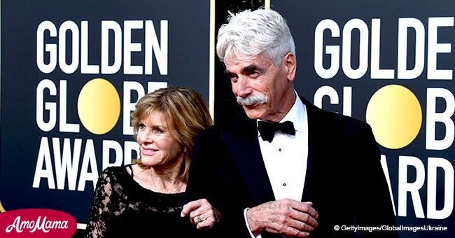 Sam Elliott made a hilarious rare appearance with beloved wife on Golden Globes red carpet