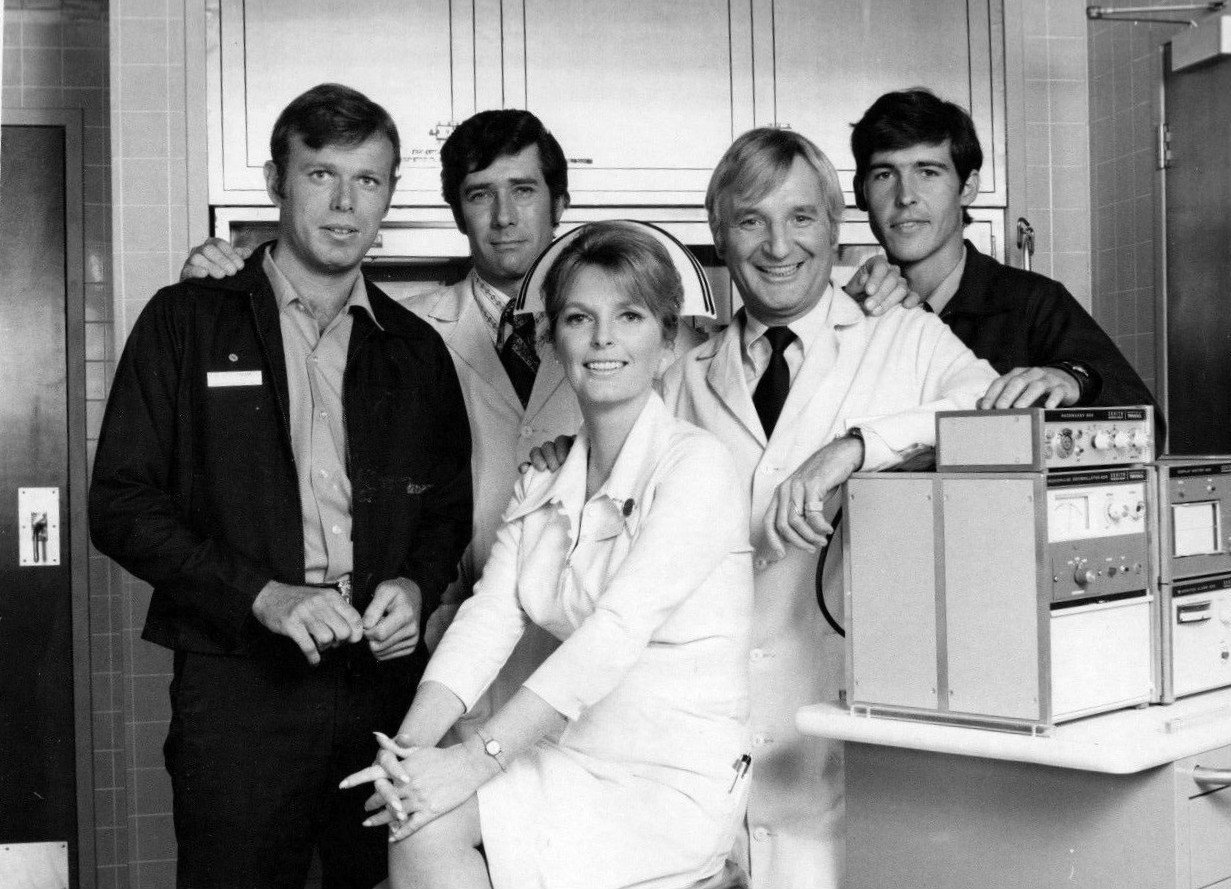 "Randolph Mantooth and the cast of ""Emergency!"" circa 1973 