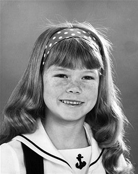 """Publicity photo of Suzanne Crough promoting the 1970 premiere of """"The Partridge Family"""" 