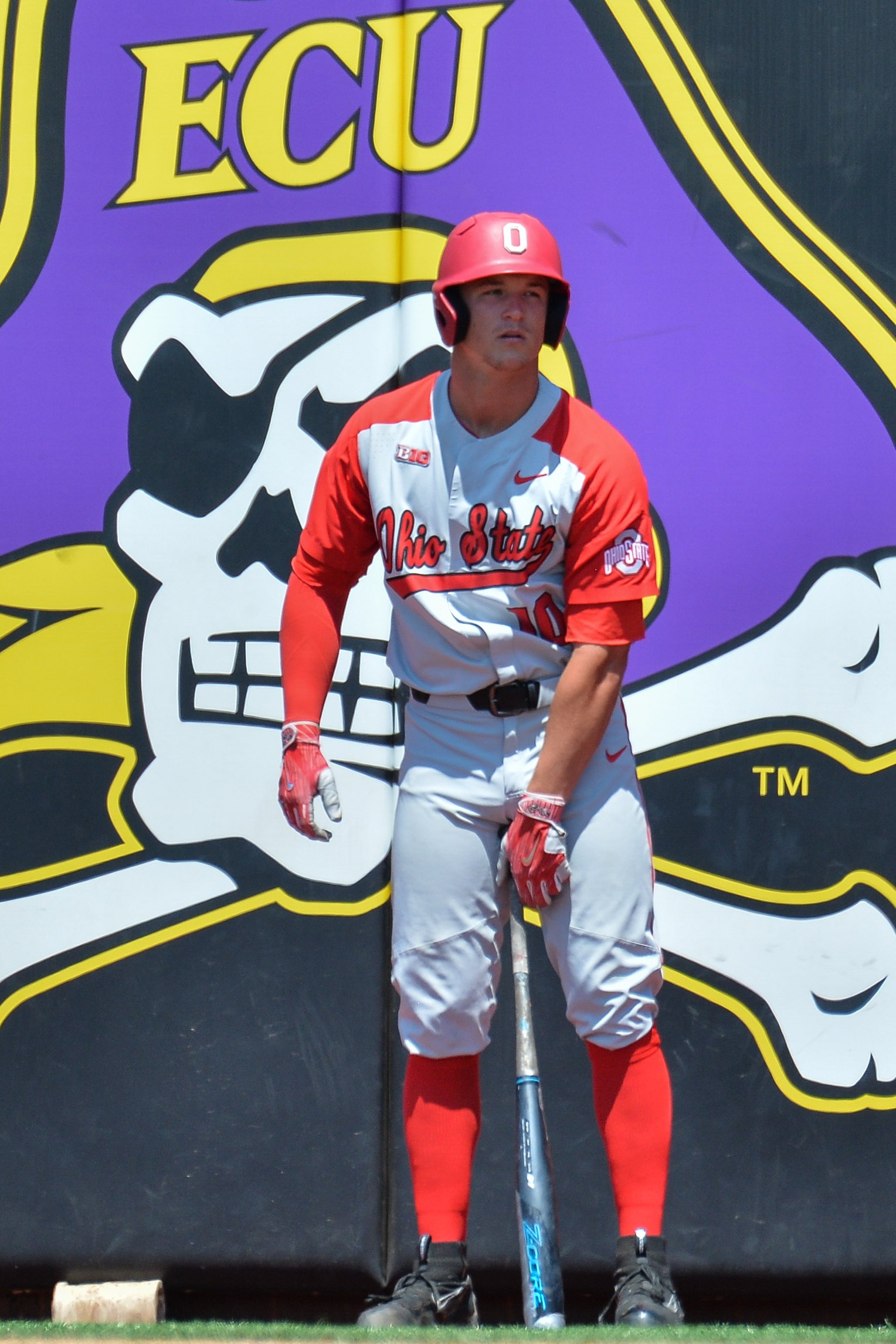 Dillon Dingler at Lewis Field at Clark-LeClair Stadium in Greenville, NC on June 1, 2018. | Photo: Getty Images