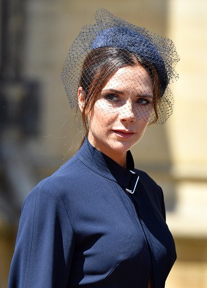 Victoria Beckham at the wedding of Prince Harry and Meghan Markle on May 19, 2018 in Windsor, England.   Photo: Getty Images