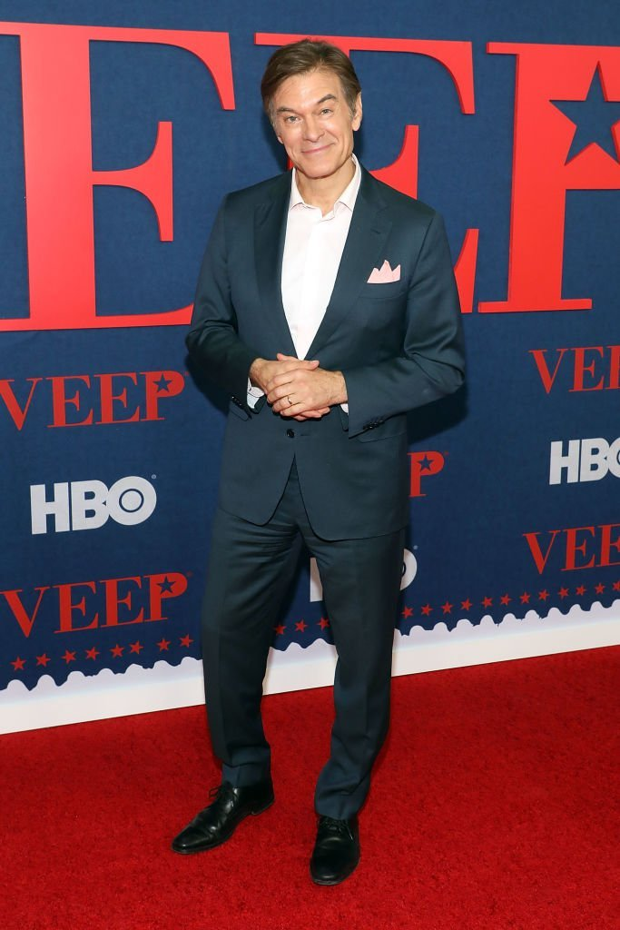 "Mehmet Oz attends the premiere of the final season of ""Veep"" at Alice Tully Hall  