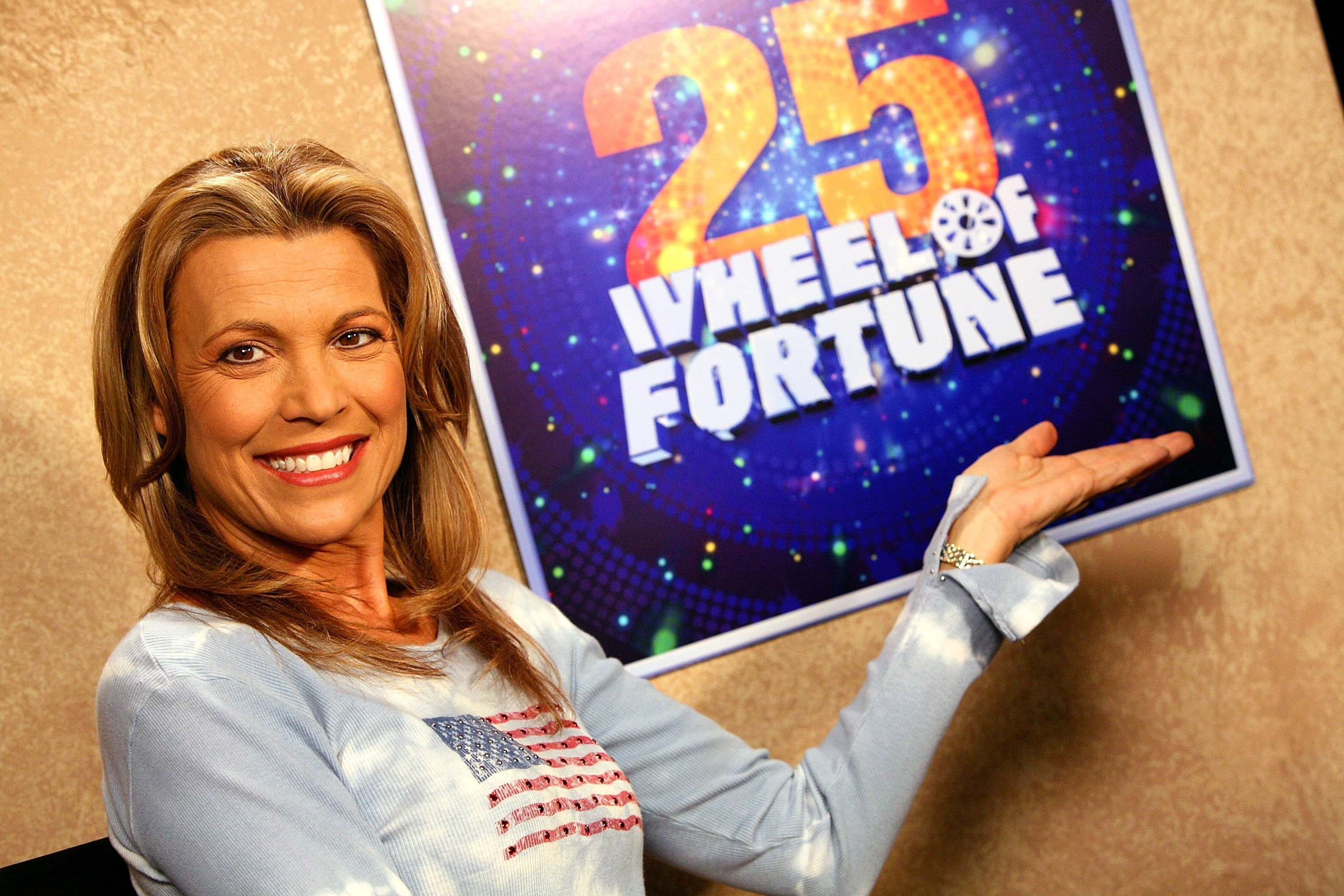 """Vanna White, hostess of """"Wheel of Fortune"""" 