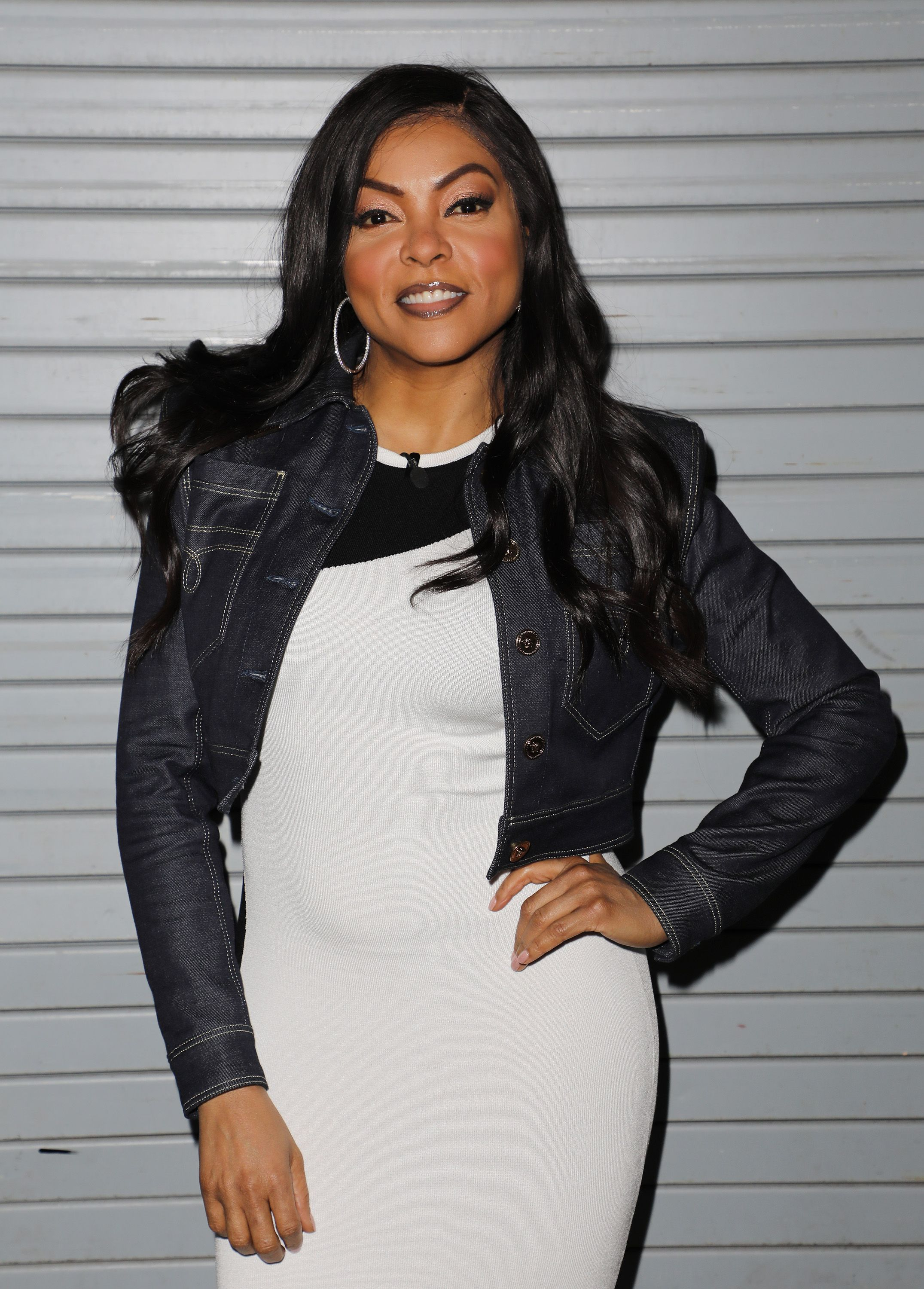 """Taraji P. Henson is seen on the set of """"Despierta America"""" at Univision Studios to promote the film """"ACRIMONY"""" on March 29, 2018.   Source: Getty Images"""