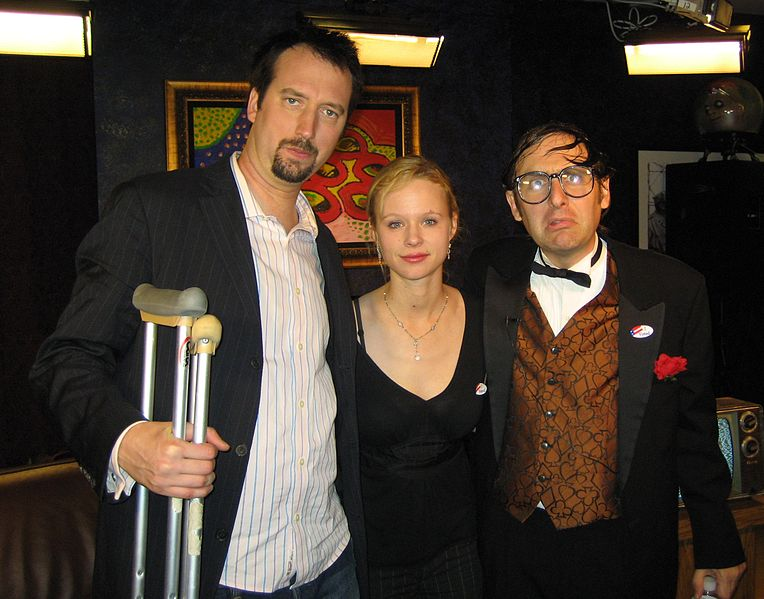 Tom Green, Thora Birch and Neil Hamburger in 2006. | Source: Wikimedia Commons