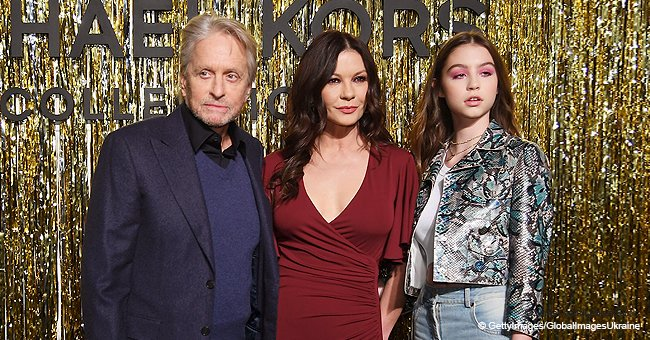 Michael Douglas and Catherine Zeta-Jones made rare appearance with their grown-up daughter