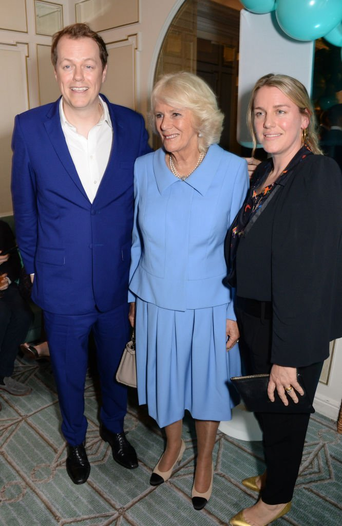 "Camilla and her kids, Tom Parker-Bowles and Laura Lopes attend the launch of the ""Fortnum & Mason Christmas & Other Winter Feasts"" cookbook"