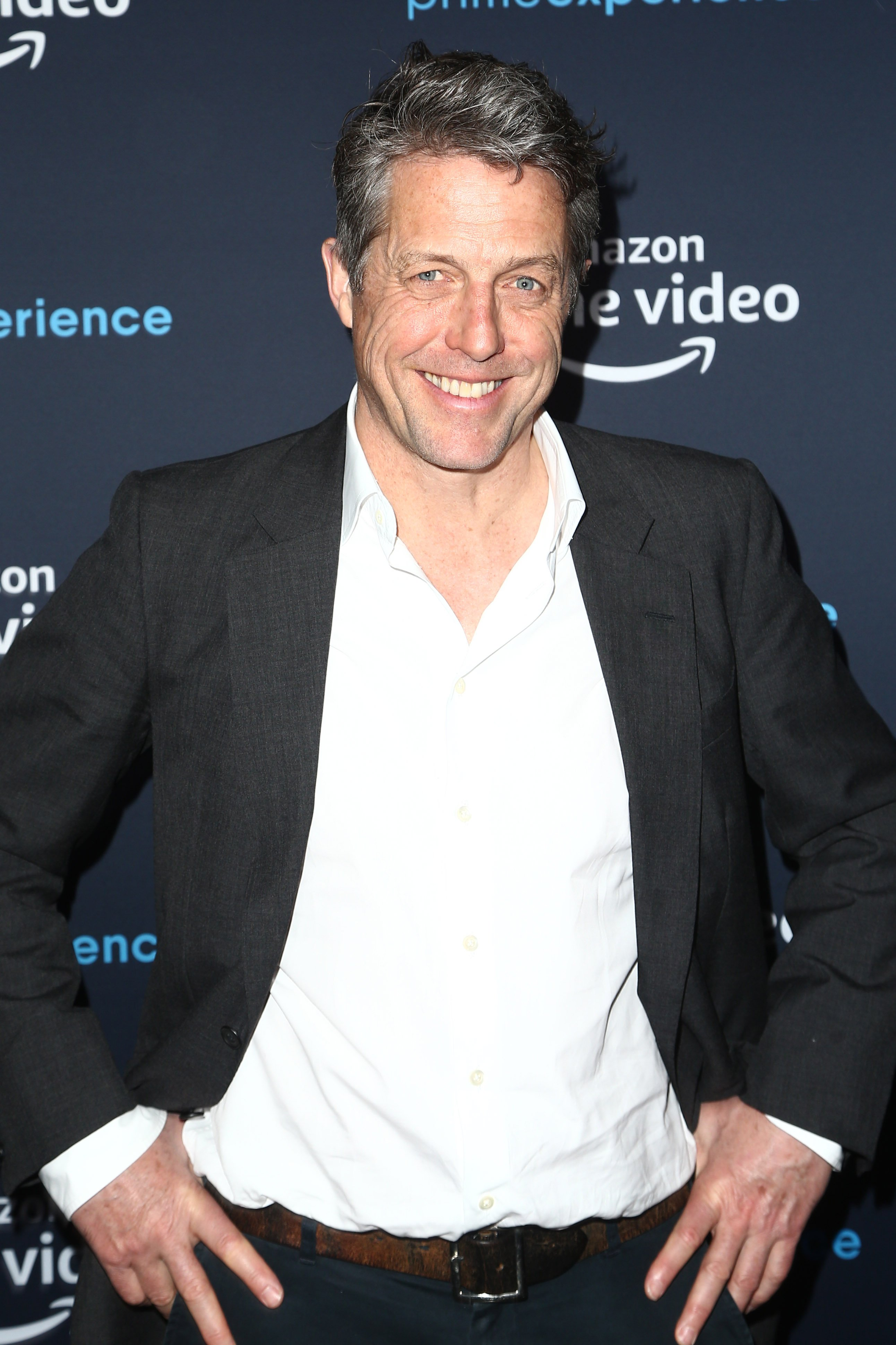 "Hugh Grant attends the Amazon Prime Experience Hosts ""A Very English Scandal"" FYC Screening And Panel at Hollywood Athletic Club on April 28, 2019, in Hollywood, California. 