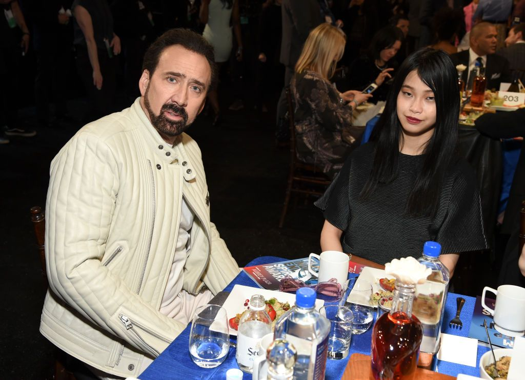 Nicolas Cage and then-girlfriend Riko Shabata attending the 2020 Film Independent Spirit Awards in Santa Monica, California | Photo: Michael Kovac/Getty Images