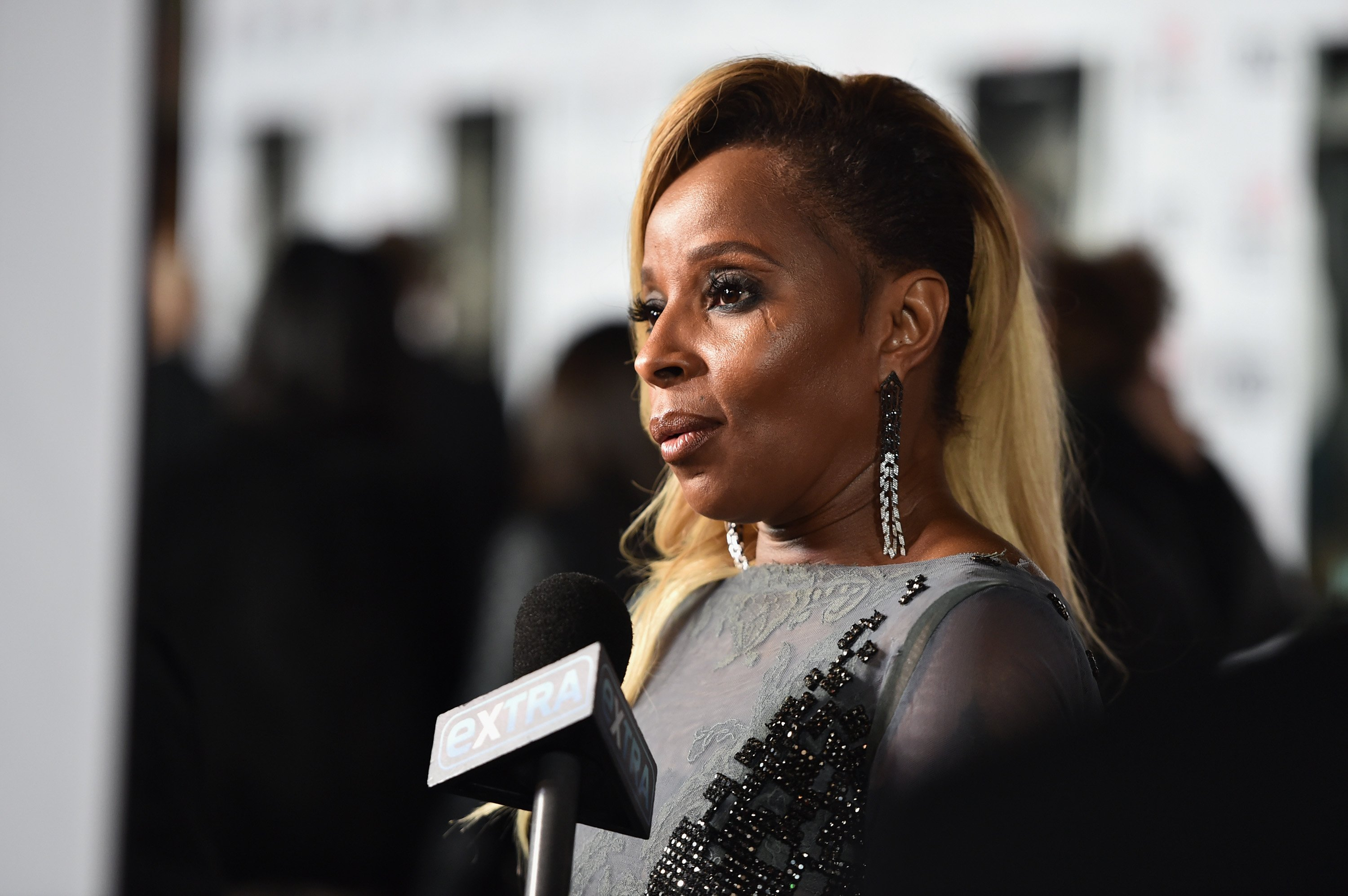 "Mary J. Blige attends the screening of Netflix's ""Mudbound"" at the Opening Night Gala of AFI FEST 2017 Presented By Audi at on November 9, 2017. 