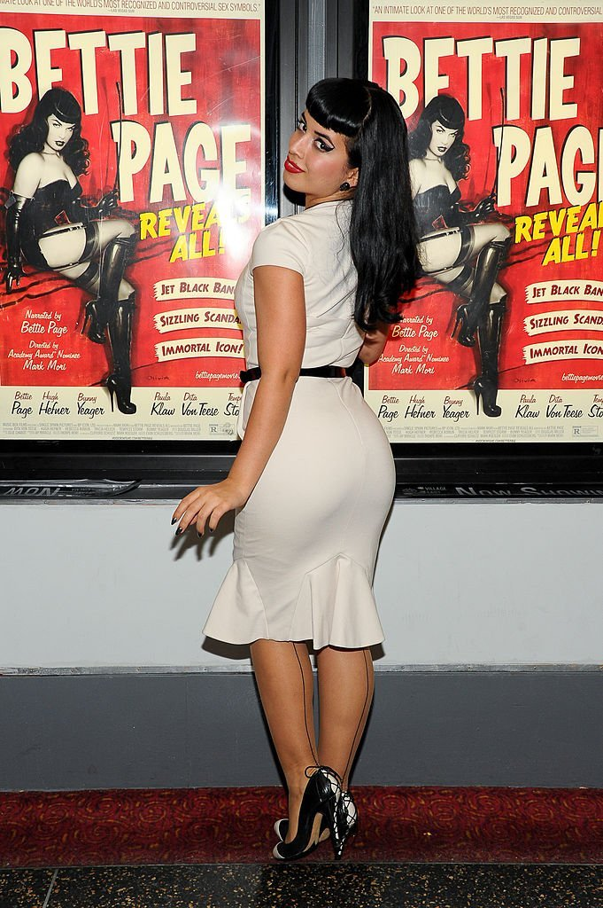 """Jasmin """"Vintage Vandalizm"""" Rodriguez attends the screening of """"Bettie Page Reveals All"""" at Village East Cinema 