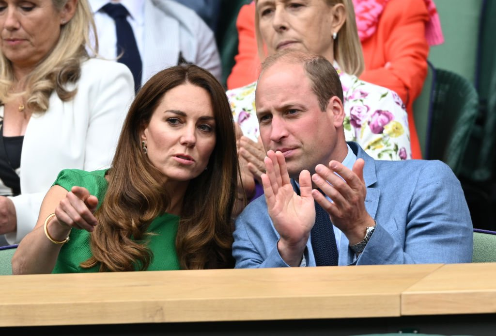Prince William, Duke of Cambridge and Catherine, Duchess of Cambridge attend day 12 of the Wimbledon Tennis Championships at the All England Lawn Tennis and Croquet Club on July 10, 2021   Photo: Getty Images