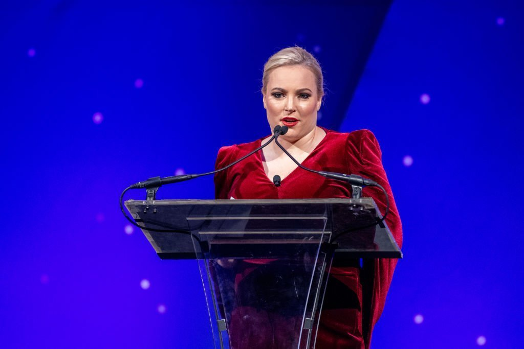 """Host Meghan McCain on stage during the 29th Annual Achilles Gala Honoring president and CEO of Cinga David Cordani with """"Volunteer of the Year Award"""" at Cipriani South Street 